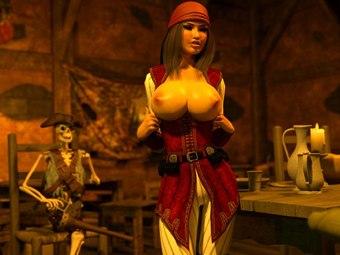 Pirata Jessica folla hentai monstruos XXX